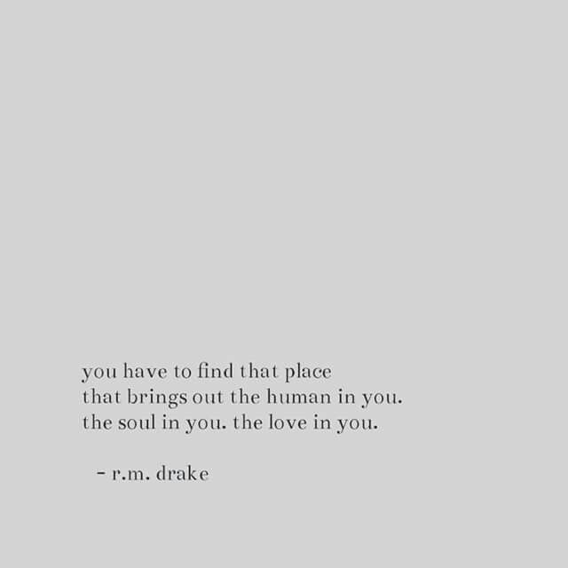 The place  in you