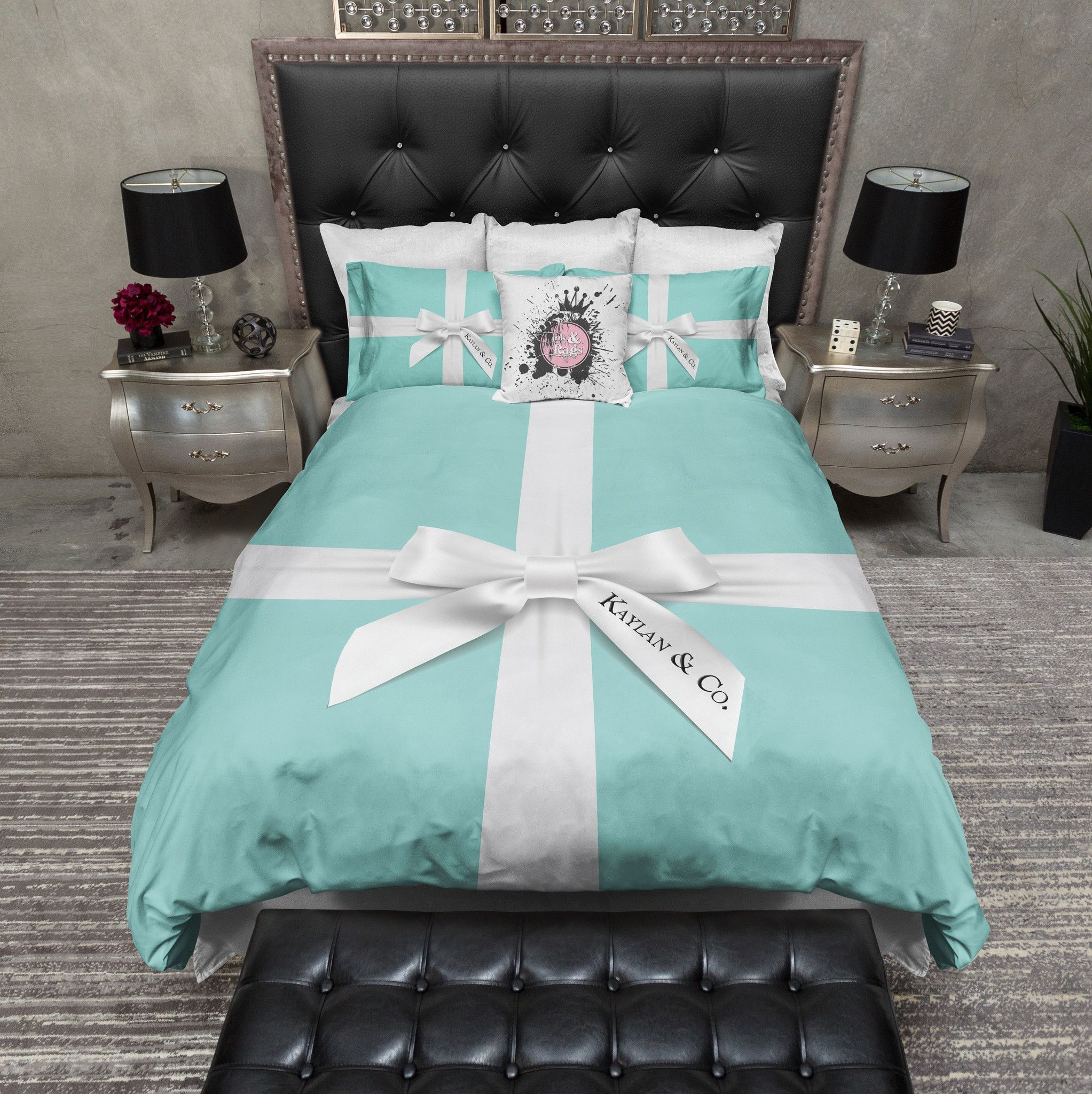 Name & Co Personalized Fashion Bedding | Duvet bedding sets, Duvet ...