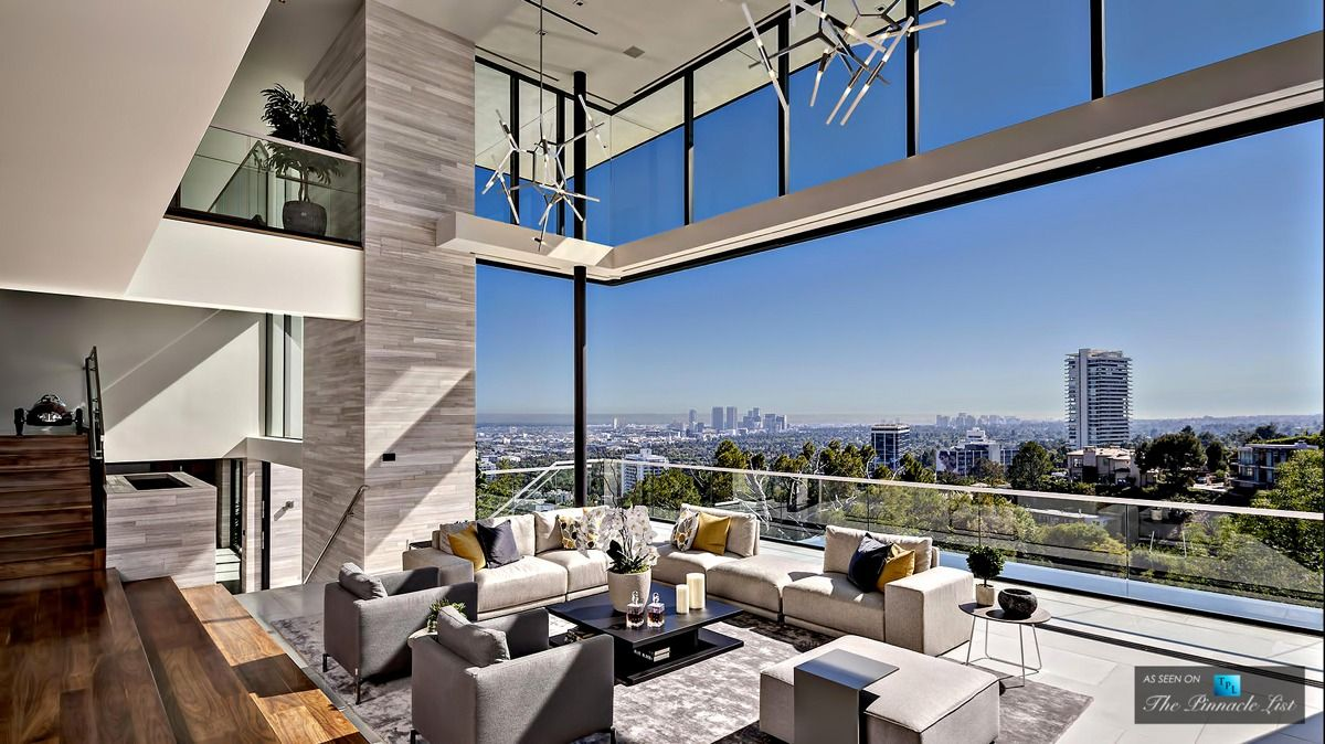 A Modern California House With Spectacular Views Luxury Living Room Hollywood Hills Homes Luxury House