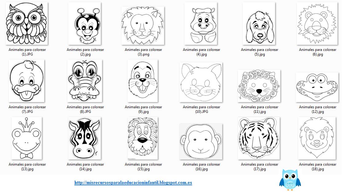 Recursos didácticos para la etapa de Educación Infantil: máscaras ...