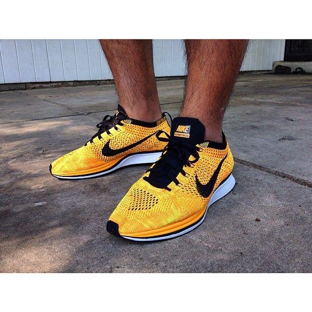 cd4fba67fc4e Nike Flyknit Racer Team Orange Black