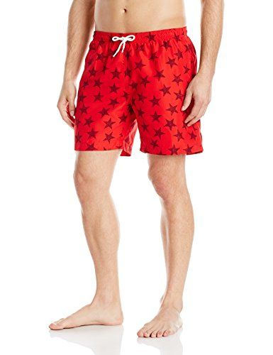 451220a0 Water Sports TRUNKS Men's All Stars 3 Inch San O Swim Short, Tomato ...