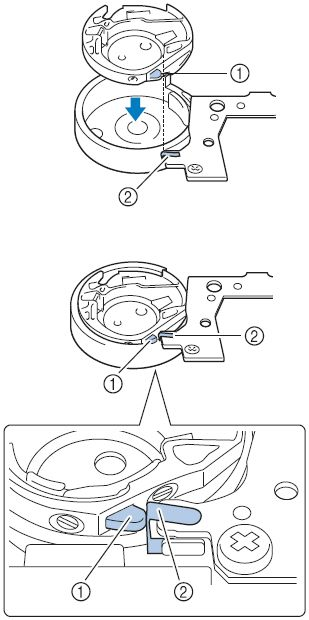 how to insert the bobbin case in the machine