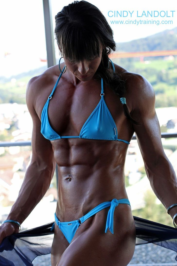 Personal Trainer Cindy Landolt Posing Her Great Abs Female Muscle Abs Pinterest