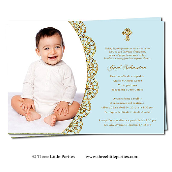 Spanish Or English Baptism Invitation Printable