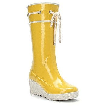 Solid Yellow Rain Boots $39.99