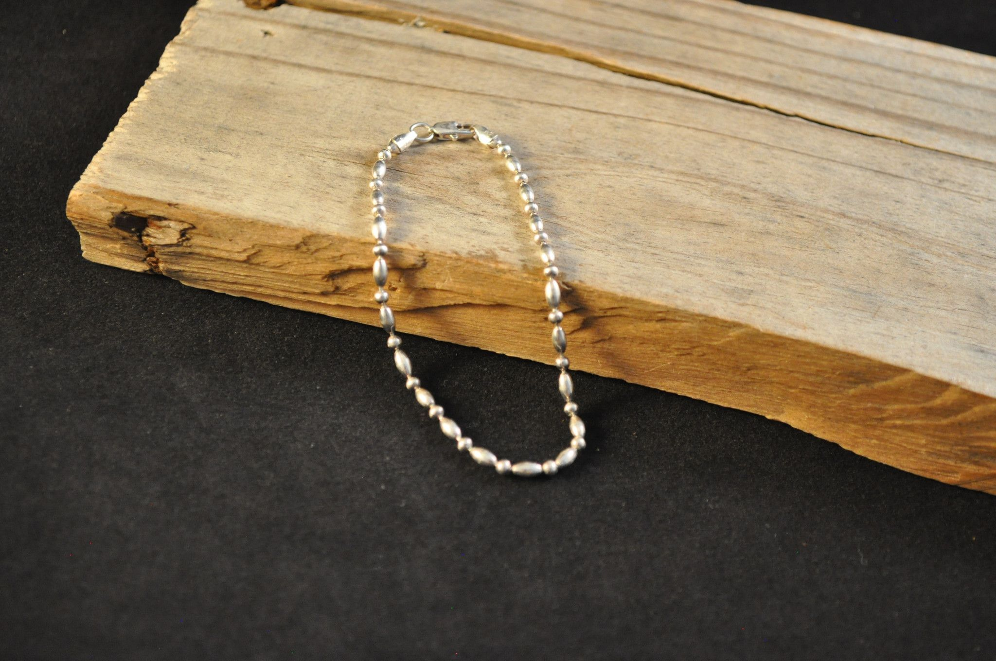 "Sterling bracelet sterling silver chain bracelet 7"" KI1189"