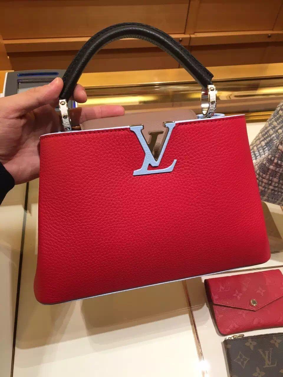 Louis Vuitton Capucines BB Bag M90937 Rubis  eb47a353881