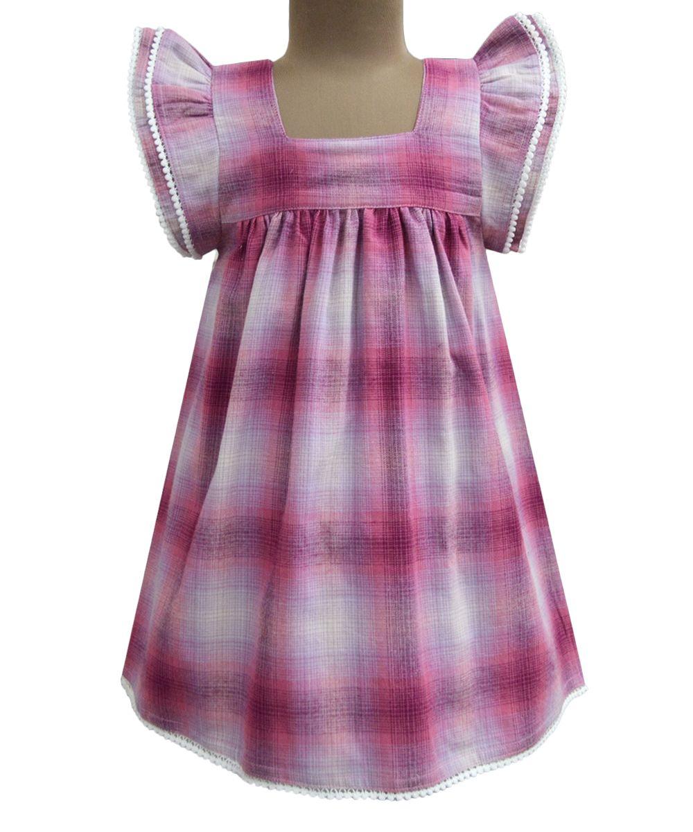 Jelly Ombré Flannel Angel-Sleeve Dress - Infant Toddler & Girls