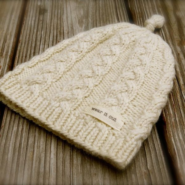 Big Bad Wool Knotted Cable Babykids Hat Knitting Pattern Pdf Knit