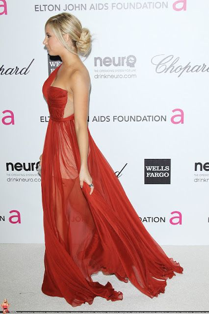 Red Carpet Dresses: Ashley Tisdale - Elton John AIDS Foundation Academy Awards Viewing Party 2012