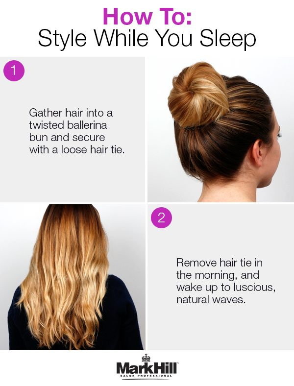Go To Bed In A Bun And Wake Up With Flawless Waves Loose Hairstyles Twist Bun Long Hair Styles