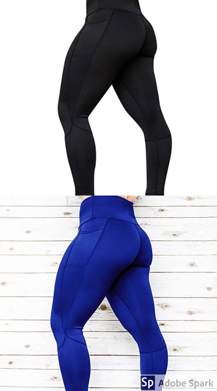 e6a611cefff7b1 Women's Black High Waist Yoga Pants Workout Leggings Fitness Sports Gym  Running Yoga Athletic Pants Non