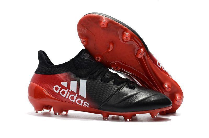 quality design 44a5f 2e19b Botas De Futbol Adidas Niños X 17.1 Piel FG Negro Blanco Rojo Por Internet