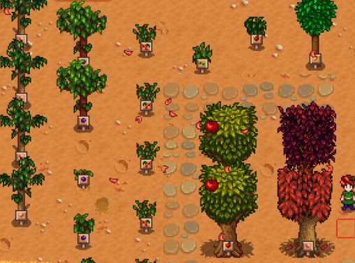 Hi Everyone So I Was Getting Frustrated With Not Knowing What Fruit Trees I Had Planted These Are Just Sma Fruit Trees Stardew Valley Stardew Valley Farms