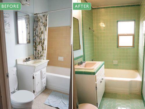 Laura S Green B W Tile Bathroom Remodel In Progress Retro