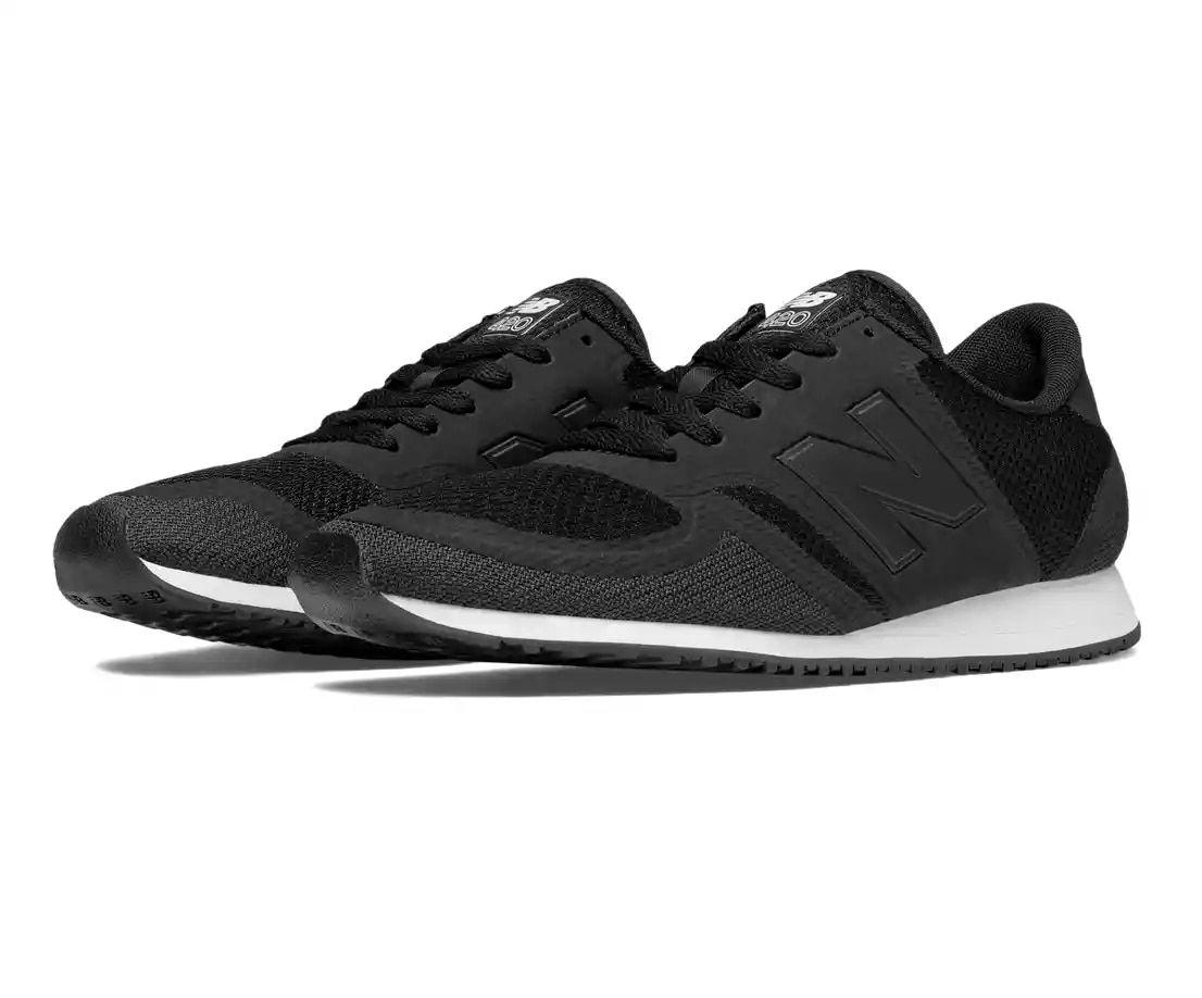 new balance black and white mesh 420 trainers