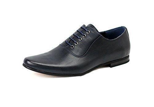 Zapatos azul marino con cordones formales para hombre NcbKJX6Nj