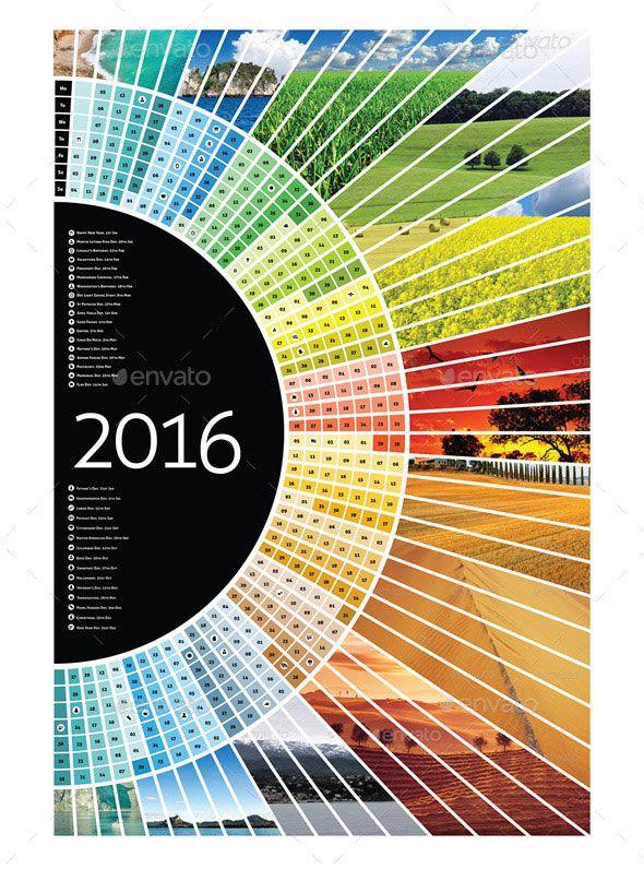 21 Best Calendar Templates For 2016 Pinterest Template