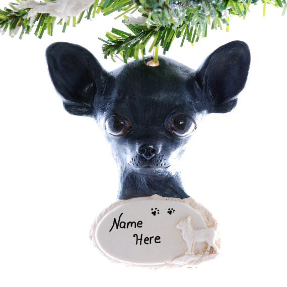 Chihuahua Christmas Ornament Black Chihuahua By Christmaskeeper 13 95 Personalized Christmas Ornaments Black Chihuahua Pets