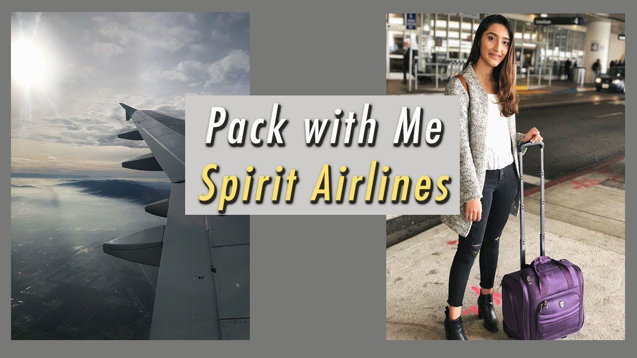 How I Pack for Spirit Airlines (8 Days, No Additional Fees