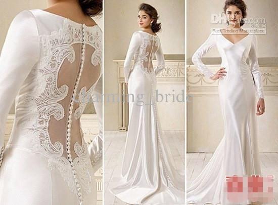 Wholesale Hot Sale V Neck Wedding Dresses
