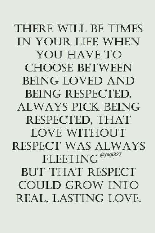 Respect..demand It!
