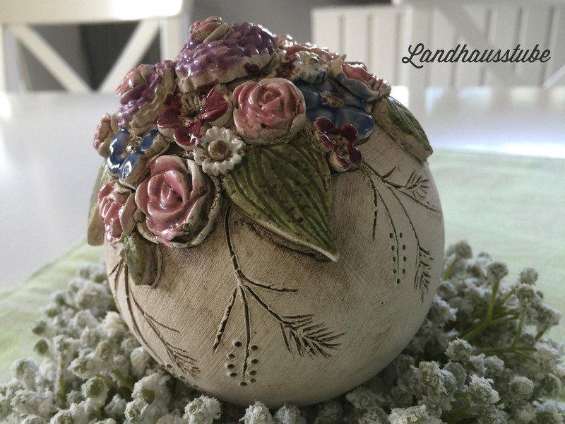Decorative Layers Keramik Geschenke Blumenkugel