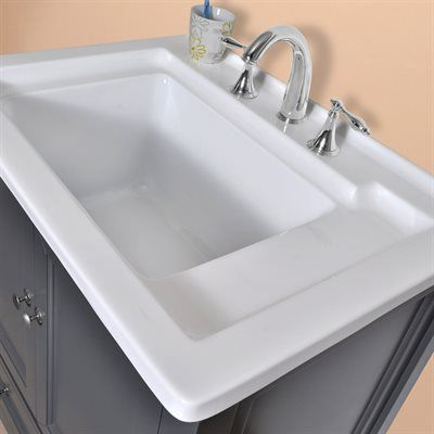Stufur Home 30 Inch Grey Utility Laundry Sink