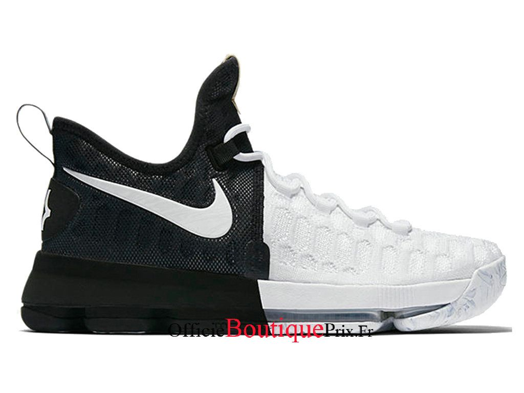 huge selection of 1dc5d 23211 Nike Zoom KD 9 BHM Gold Black History Month White 860637-100 Chaussure Nike  Sneakers
