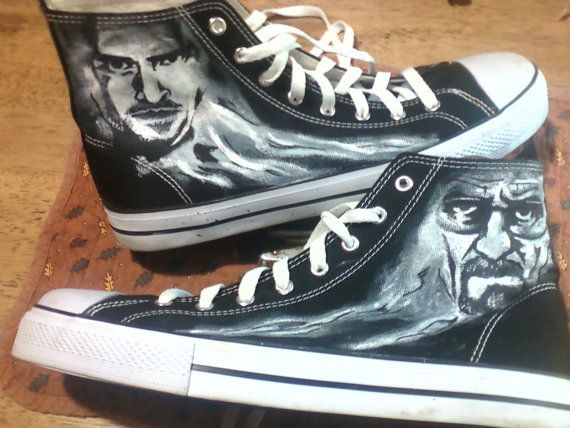 Breaking Bad Custom Canvas High top Shoes Walter White and