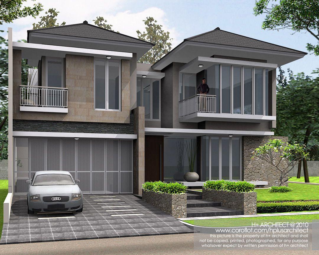 Modern Houses Rumah Sudut Puri Botanical