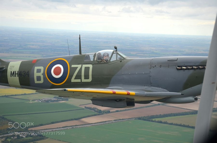 Wing to wing with a Spitfire by timcockell75