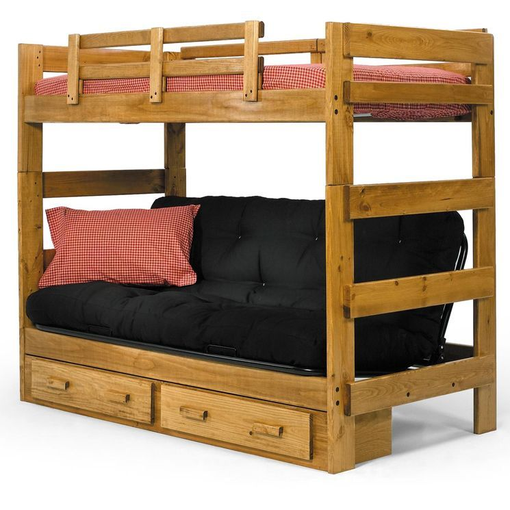 Medium image of twin futon bunk bed with storage