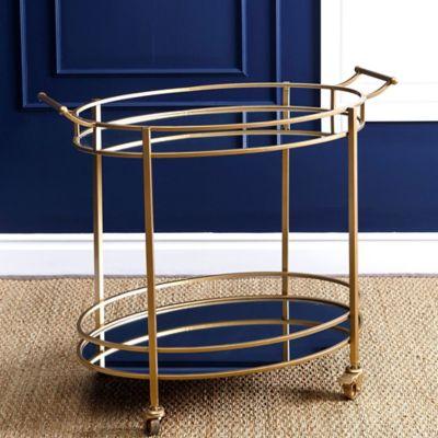 Abbyson Living Marriot 2 Tier Oval Bar Cart Bed Bath Beyond Round Bar Cart Bar Furniture Abbyson Living