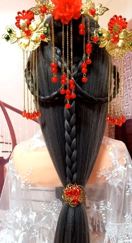 30 simple vintage braid hairstyles to be an ancient Chinese princess NO22!If you like it and ...