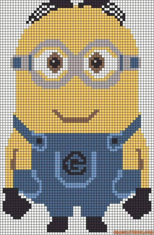 Pixel Patroon Haken Pinterest Häkeln Kreuzstich And Minion Häkeln