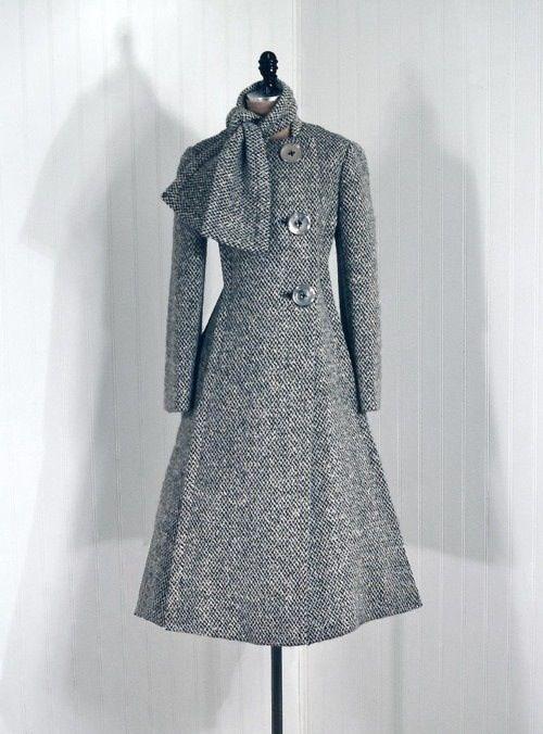 Retro inspired dress coat | Me :) | Pinterest | Damen und Schnittmuster
