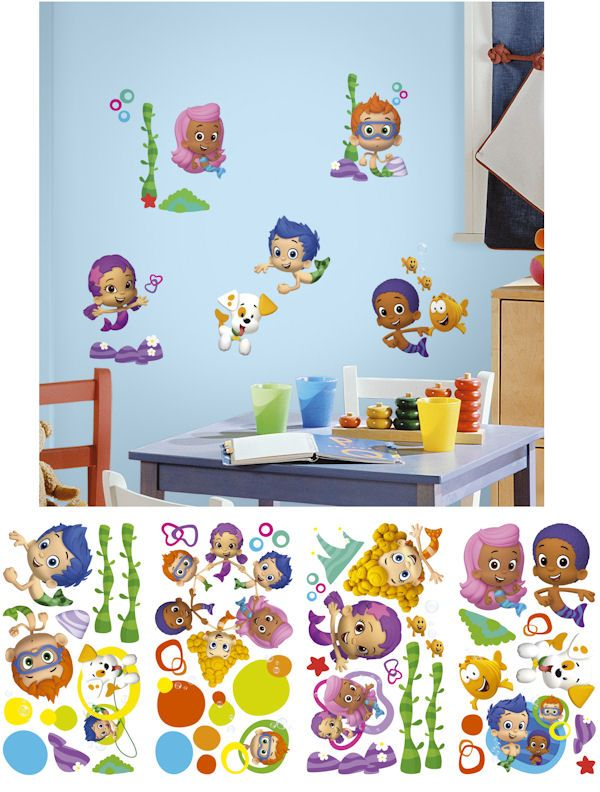 bubble guppies peel and stick wall decals wall nickelodean wall