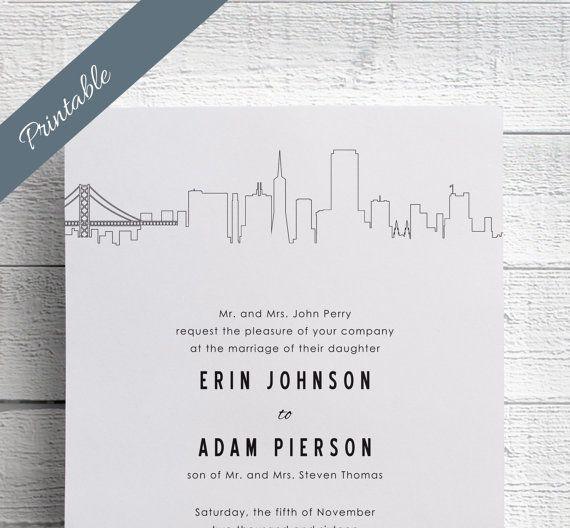 San Francisco Wedding Invitation Printables by EdenWeddingStudio