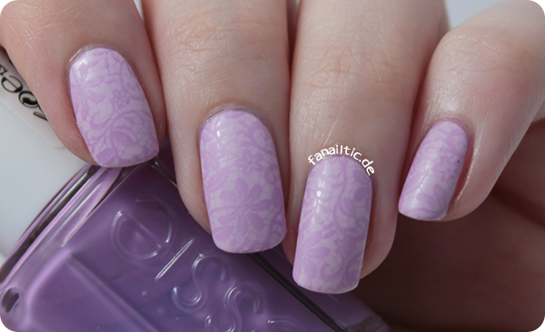 Elegant Violet Lace Stamping Nails Httpfanailtic201501