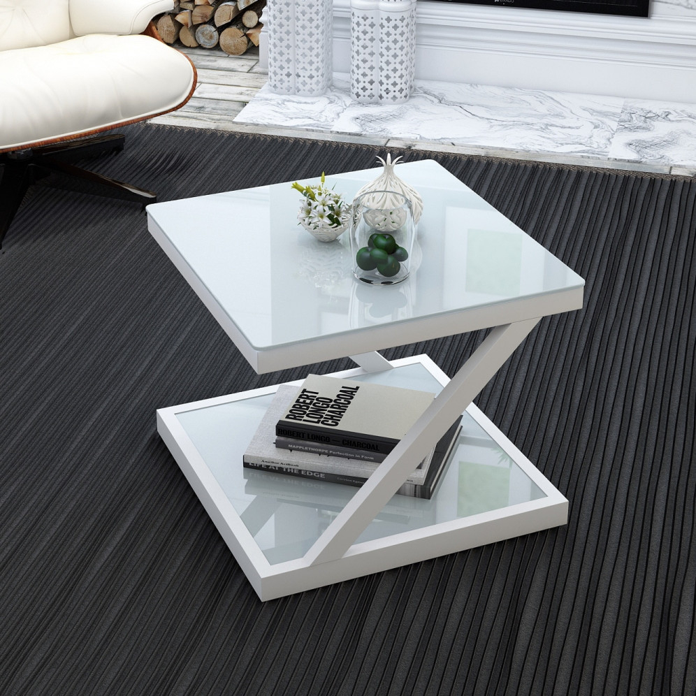Simple And Modern Side Table Small Tea Table Square Creativity Tea