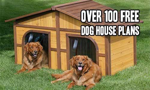 Over 100 Free Dog House Plans Double Dog House Wood Dog House