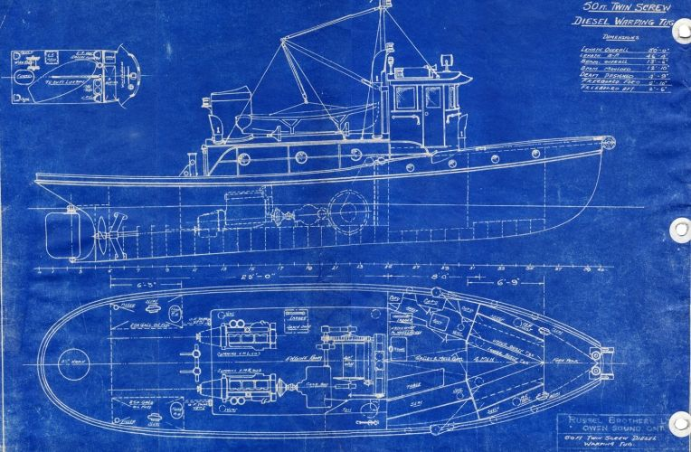 Blueprint boat wallpaper wall mural muralswallpaper wall blueprint boat wall mural custom made to suit your wall size by the uks for wall murals custom design service and express delivery available malvernweather Image collections