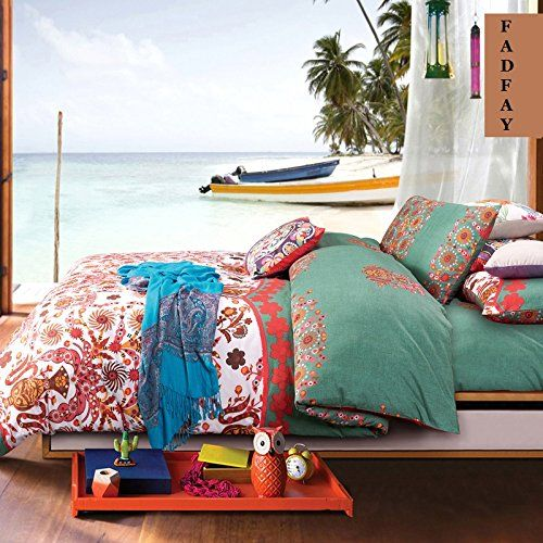FADFAY Bohemian Style Bedding Bohemian Duvet Covers Boho Bedding Set Queen Size Summer Style Sabanas Sheet 4 Pieces FADFAY http://www.amazon.com/dp/B00YWPT906/ref=cm_sw_r_pi_dp_Xgy7wb0GSCP6Z