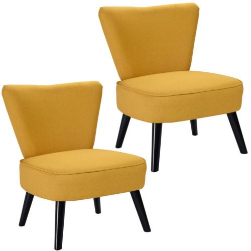 Marvelous Set Of 2 Armless Accent Dining Chair Modern Living Room Gmtry Best Dining Table And Chair Ideas Images Gmtryco