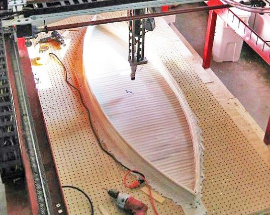 Students from the University of Washington created the world's first boat via a 3-D. The 7-foot boat was made from recycled, melted and extruded milk cartons that the students collected and then ran through a large, custom-designed 3-D printer!