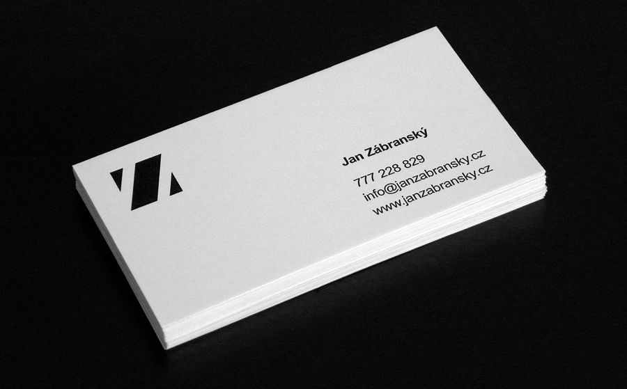 My actual minimalistic business cards | Identity design | Pinterest ...