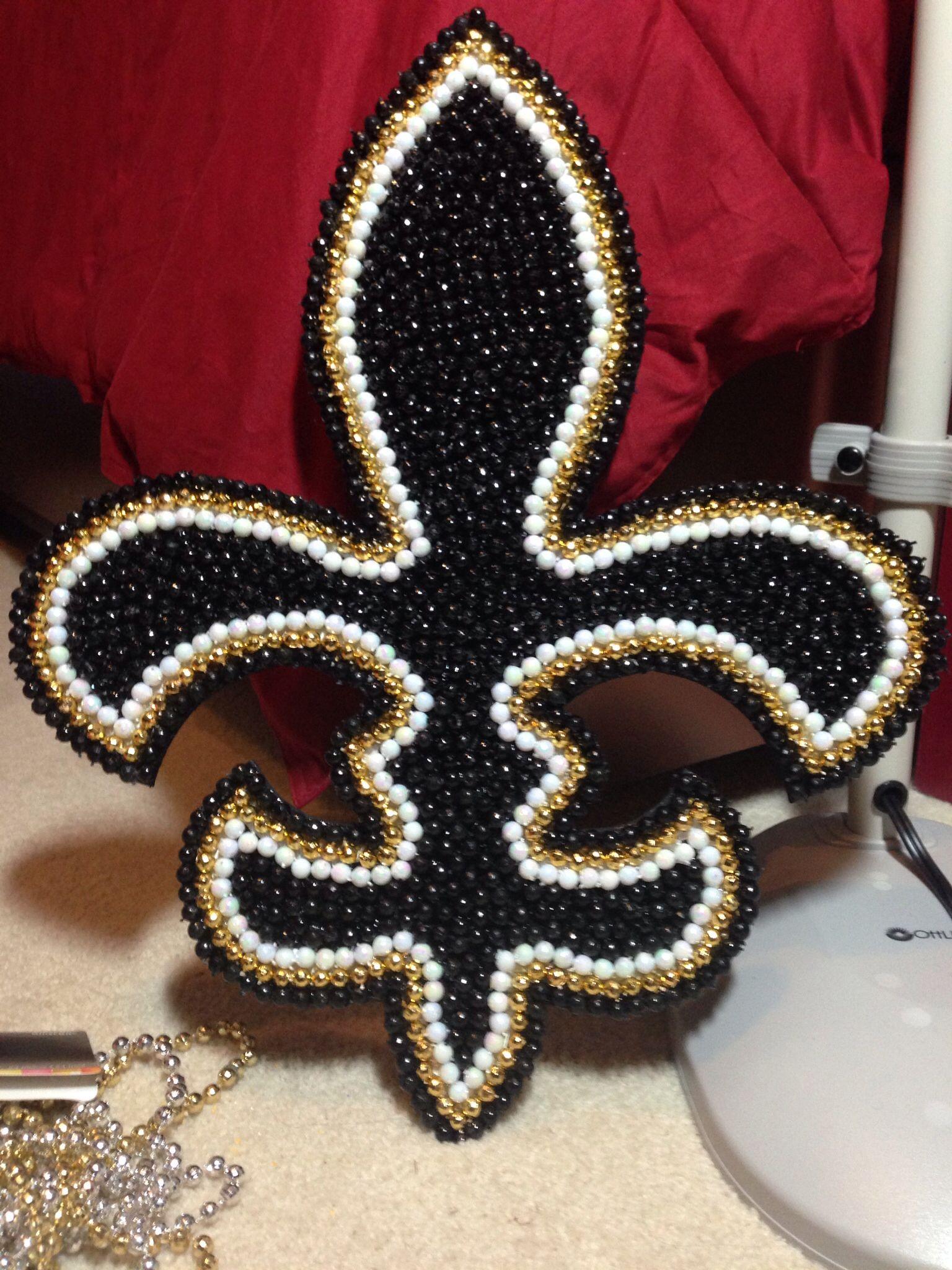 Mardi Gras Woman Brooch Handmade