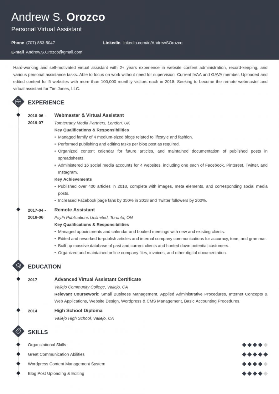 Browse Our Sample Of Virtual Assistant Job Description Template Resume Examples Job Resume Examples Teacher Resume Virtual assistant job description template